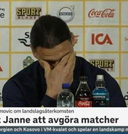 Ibra in lacrime per la nazionale